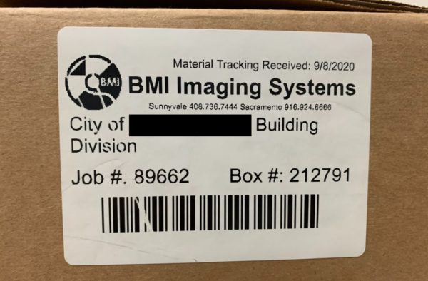 Paper scanning box tag